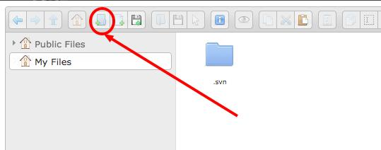 Browse Server folder icon