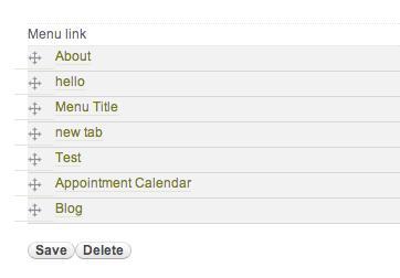 Re-order menu items