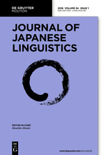 Journal of Japanese Linguistics