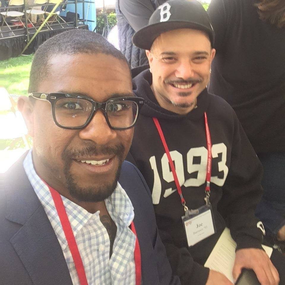 Joe & DeJon at Harvard reunion