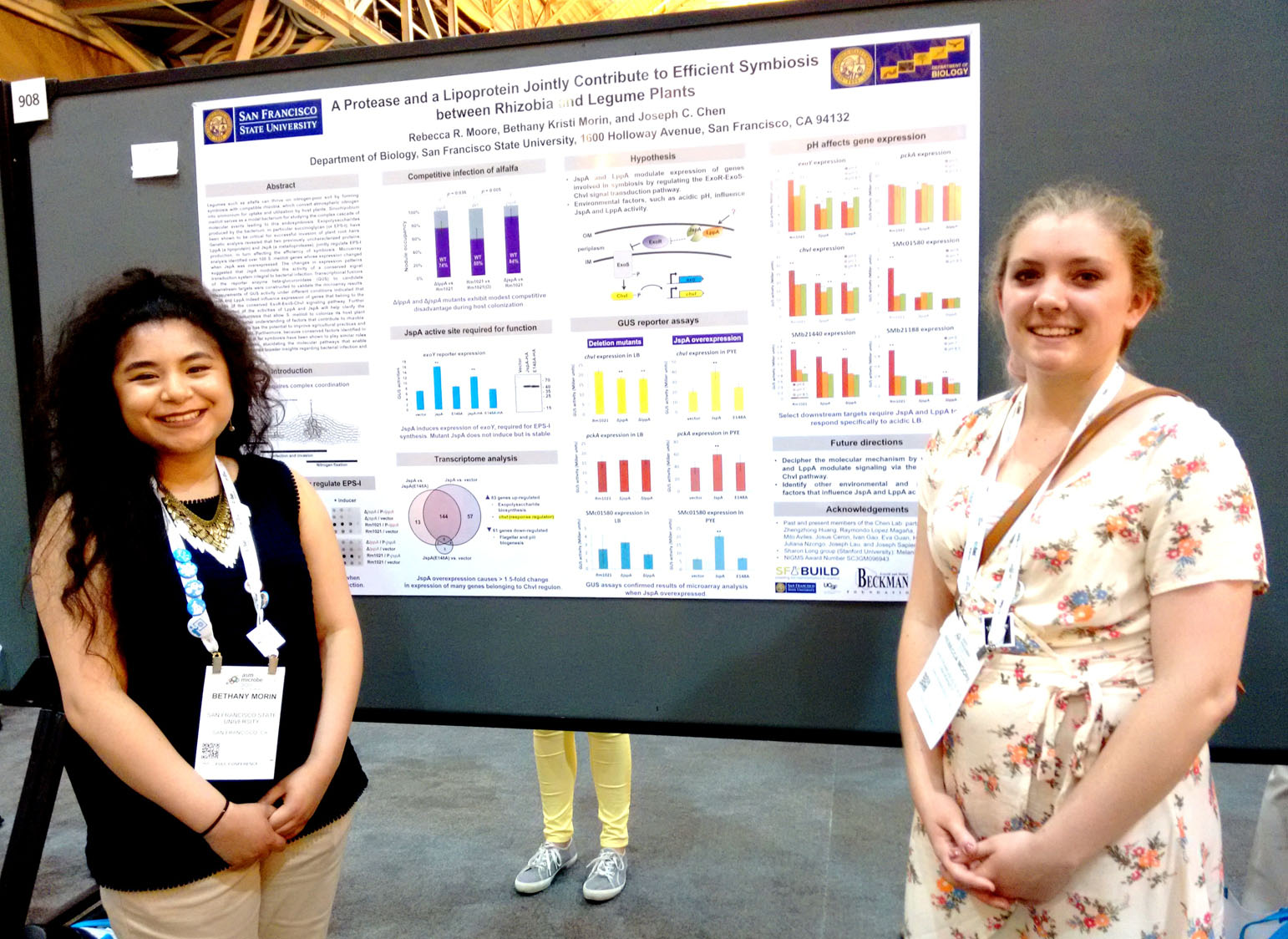 Beth and Rebecca at ASM Microbe 2017