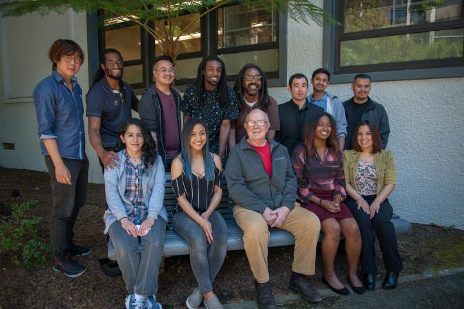 Professor Frank Byliss with SEO Scholars