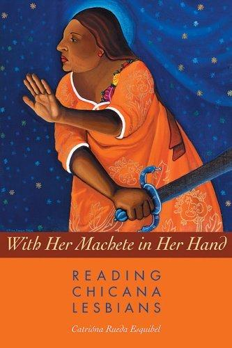 book cover of With Her Machete in Her Hand, art by Alma Lopez